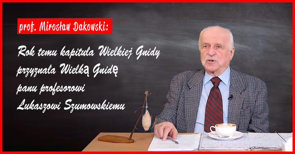 Nauka była moim Bogiem! Kapituła Wielkiej Gnidy przyznała Wielką Gnidę panu profesorowi Łukaszowi Szumowskiemu