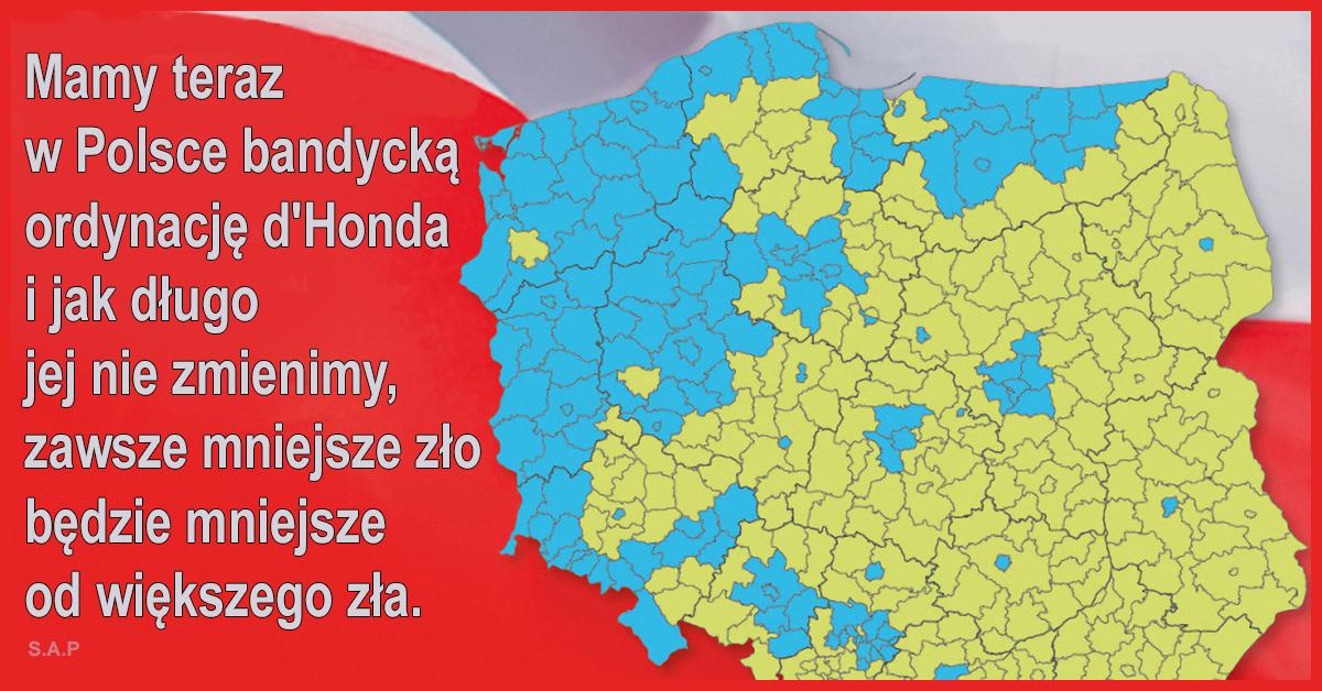Dwa cele powinny przyświecać ludziom wolnym: ustrój łże demokracji zmienić na demokrację bezpośrednią a ordynację d'Honda na uczciwą ordynację większościową.